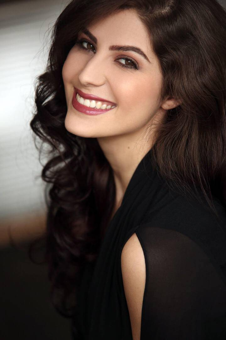Elnaaz Norouzi Model Black Top Smiling Photo