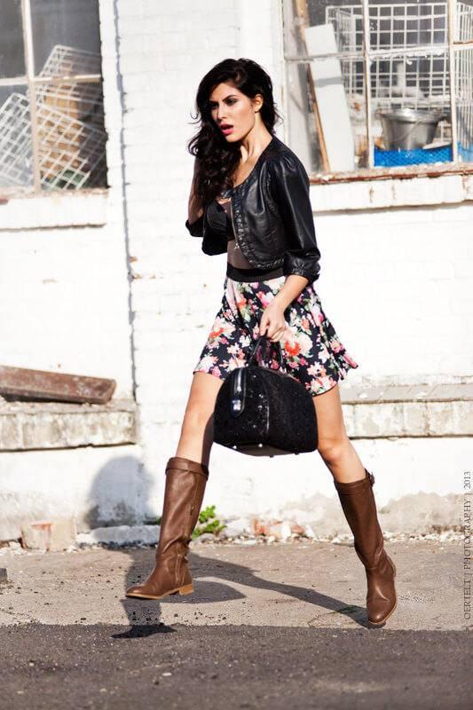 Elnaaz Norouzi Modelling Black Jacket