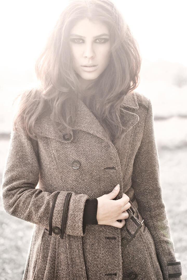 Elnaaz Norouzi Modelling Career Coat