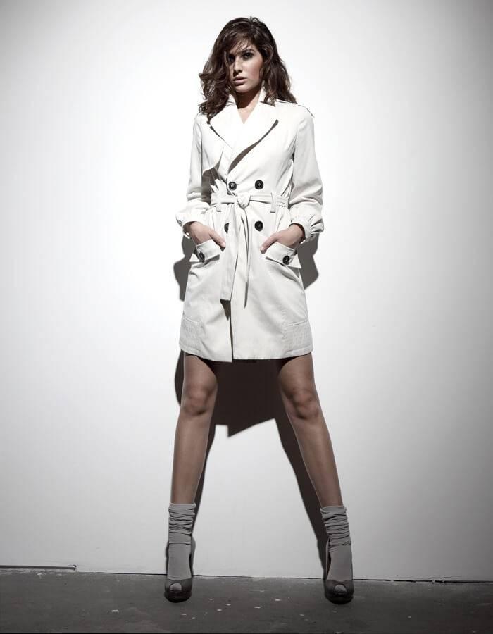 Elnaaz Norouzi Modelling White Coat