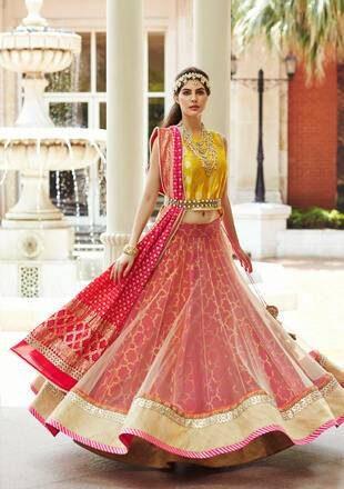 Elnaaz Norouzi Model Classic Indian Look Red Dress